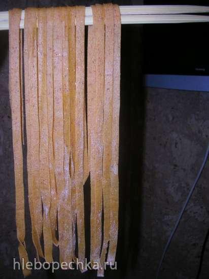 Лапша пшенично - ржаная с паприкой и отрубями