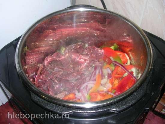 Нут с мясом и овощами (мультиварка-скороварка-медленноварка Steba DD1 ECO)