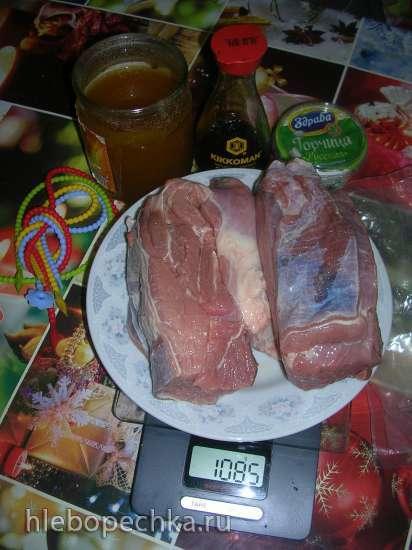 Говядина в медово-горчичном маринаде с ароматом ольхи (аля Су вид и копчение Steba DD1 ECO)