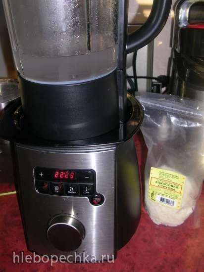 Кокосовая булка (применение кокосового молока и кокосового жмыха)