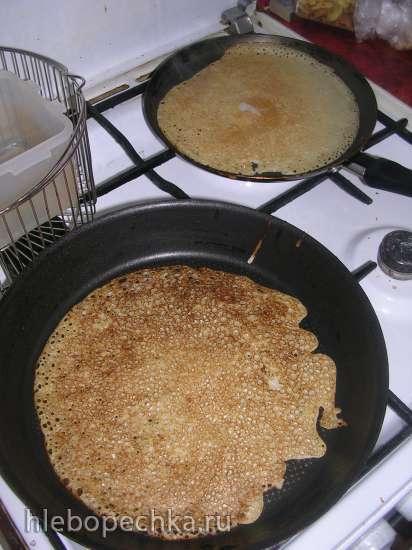 Блинчики без яиц (льняной кисель + овсяное молоко)