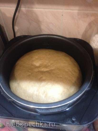 Пшеничный хлеб с трюфельным маслом на опаре из старого теста