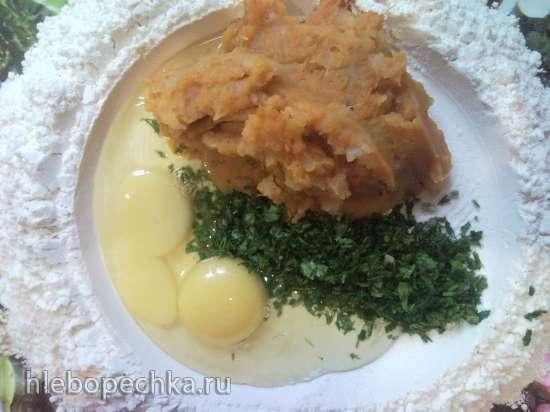 Тесто для лапши тыквенно-картофельное