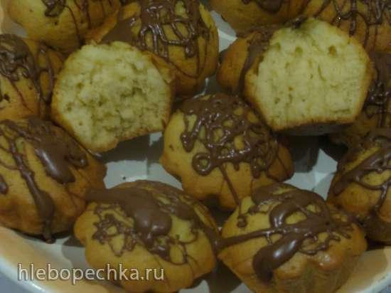 Кекс апельсиновый в шоколадно-карамельной глазури