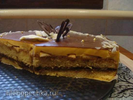 Торт Иннета с карамелизированными яблоками
