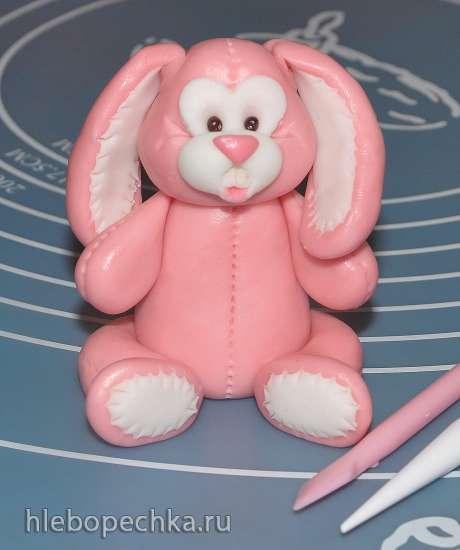 Лепка зайчика-игрушки из мастики (мастер класс)