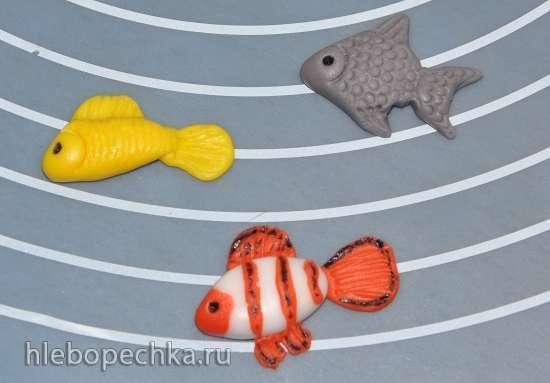 Мастичный  Морской мир - водоросли, ракушки, рыбки и прочее (мастер-класс)