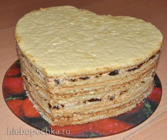 Торт песочный с разными кремами