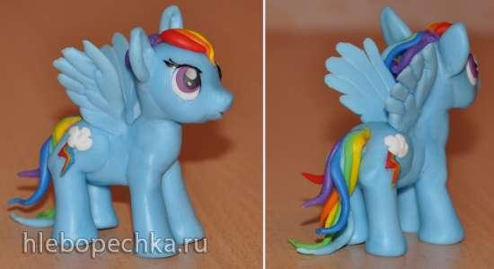 Пони Радуга из мультфильма Мy Little Pony (мастер-класс, лепка из мастики)