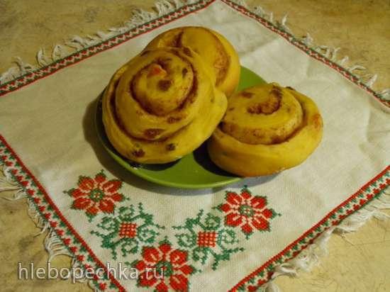 Тыквенные булочки с изюмом и корицей