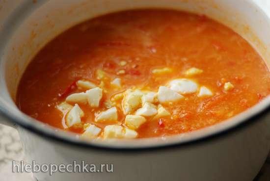 Суп из сладкого перца с шафраном