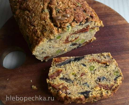 Хлеб из киноа с грибами и горошком (Quinoa Loaf with Mushrooms and Peas)