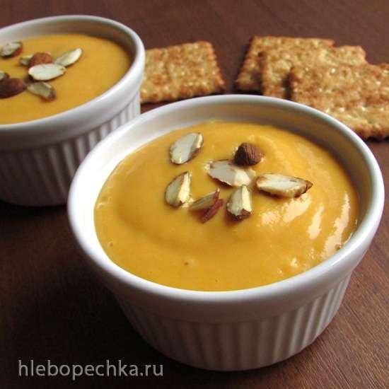 Холодный суп из персиков и моркови