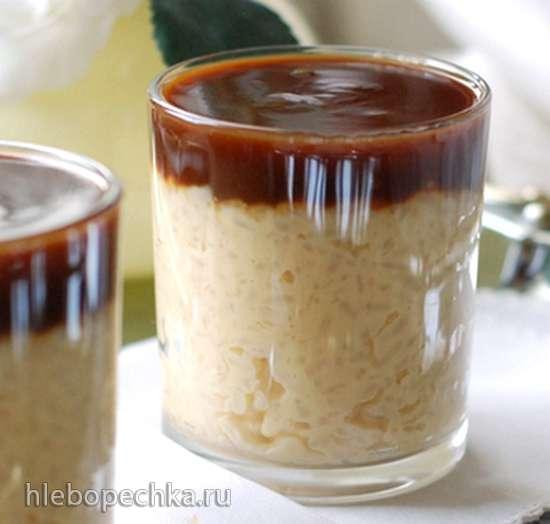 Рисовая каша на заварном креме с соленой карамелью