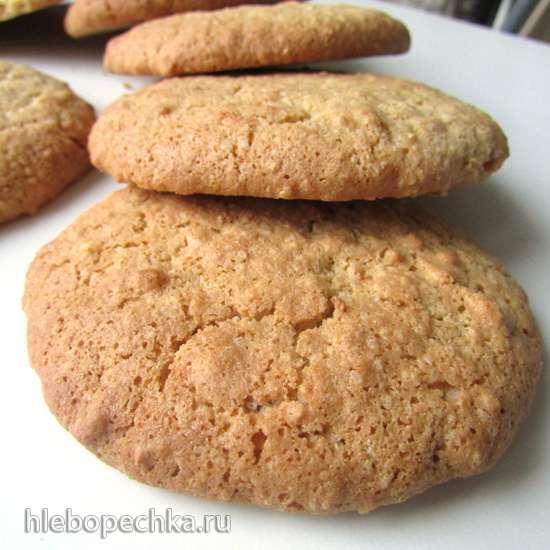 Печенье из рисовой муки с имбирем и орехами