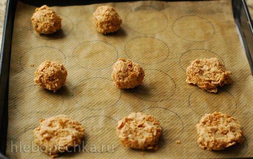 Печенье из цельнозерновой муки с цельнозерновыми хлопьями