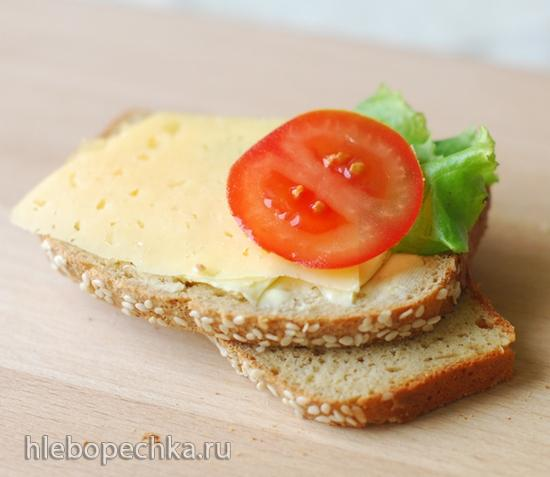 Низкоуглеводный безглютеновый хлеб с кунжутом