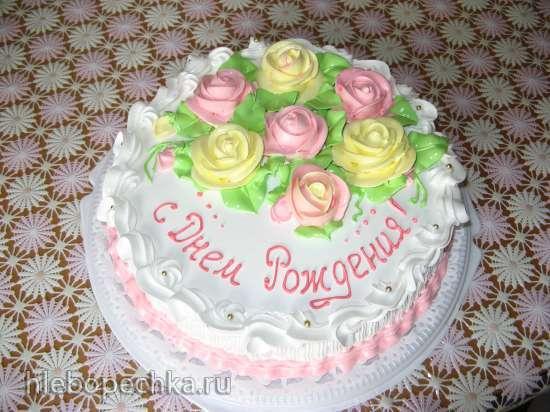 Картинки тортов с розами