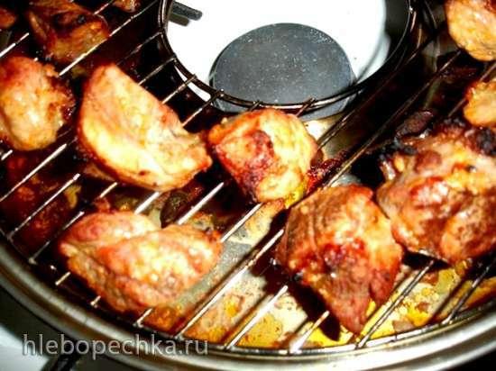 Мясо карри с лепешками (сковорода гриль-газ и чапатница)