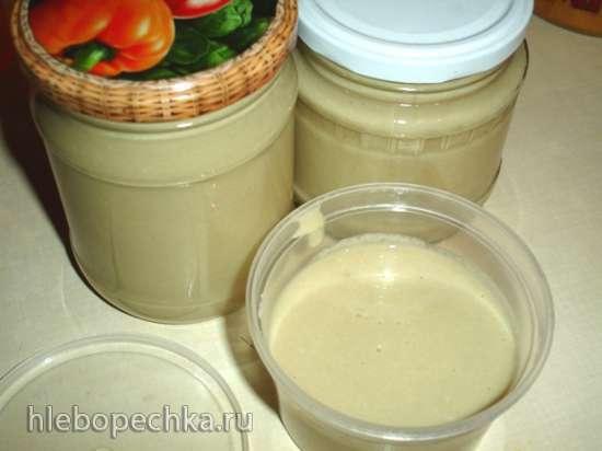 Кунжутная паста (тхина гольмит) в соевой корове soy milk maker (Midea Mi-5)