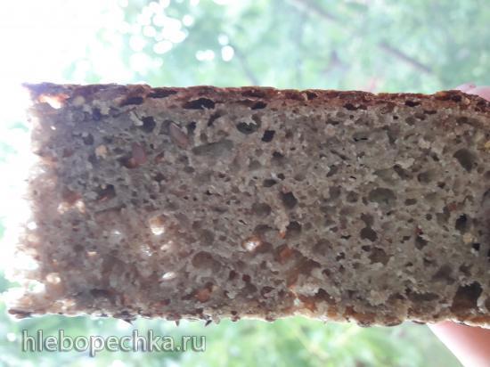 Безглютеновый хлеб из зеленой гречки, без дрожжей, соды и яиц)