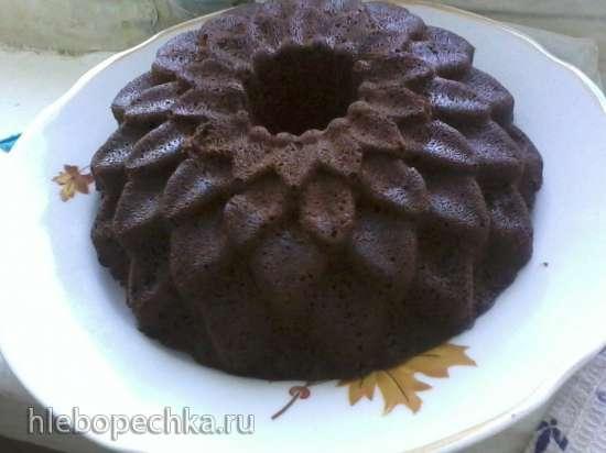 Кекс шоколадно-маковый в микроволновке