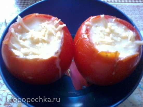 Омлет в помидоре за 5 минут в микроволновке