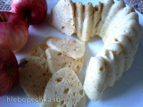 Шарлотка с яблоками в микроволновке