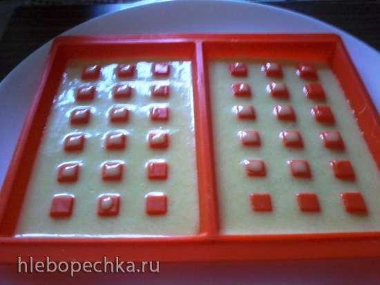 Палочки ореховые и вафли из того же теста в микроволновке