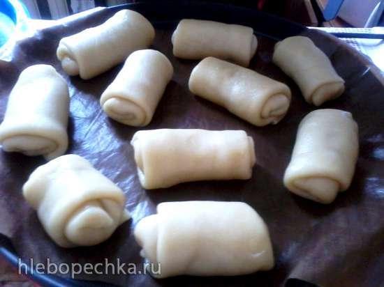 Капустные пирожки на постном тесте