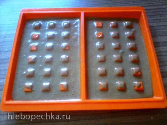 Вафли шоколадные в микроволновке