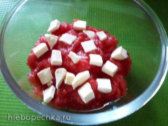 Тосты с сыром и чесноком в микроволновке