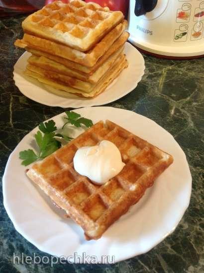 Толстые вафли на кабачках с сыром Остеркрон