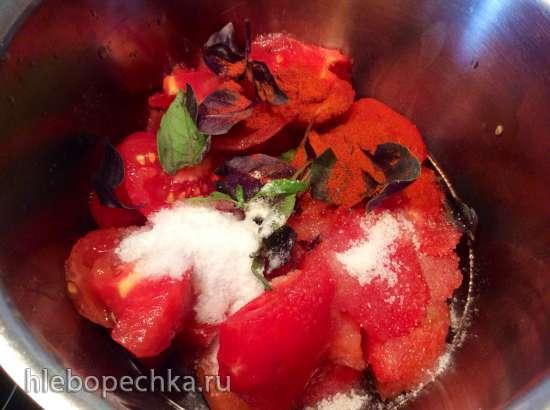 Томатно-Базиликовый Суп (стационарный блендер-суповарка Moulinex)