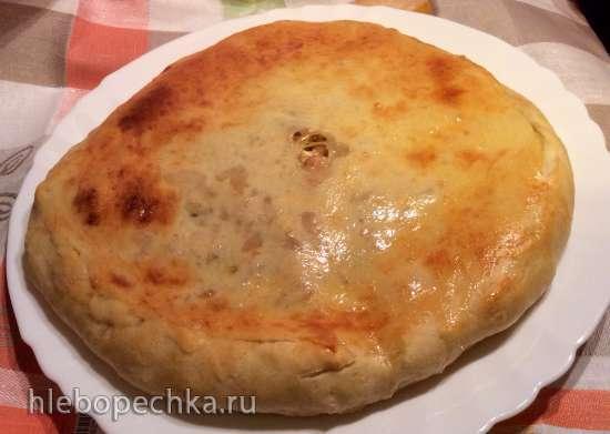 Пирог с рисом, курицей и перепелиными яйцами (пиццепечь Принцесс)