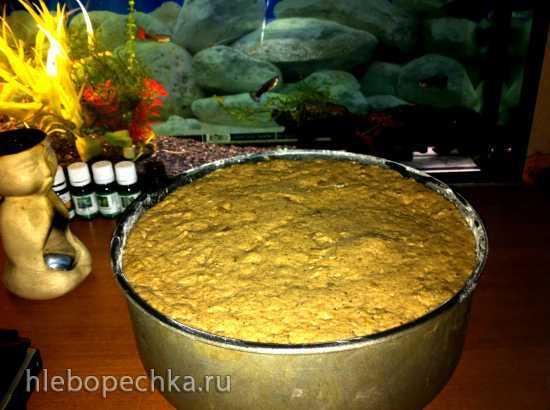 Хлеб ржаной цельнозерновой диетический с имбирем на закваске