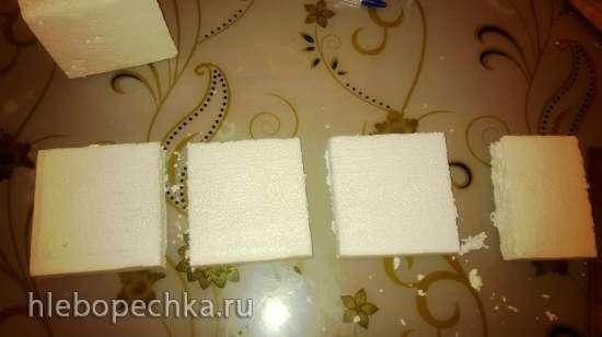 Изготовление подставки для лепки туфельки из мастики