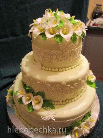 Торты, украшенные мастикой и марципаном (10)
