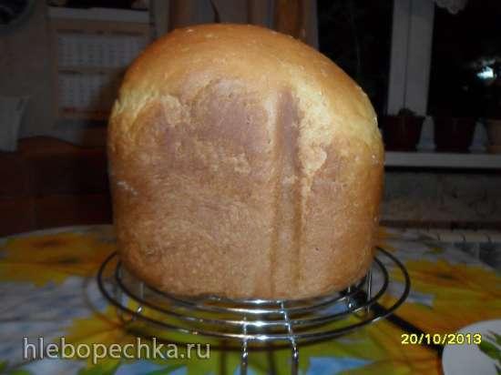 Хлеб пшеничный тыквенно-творожный (хлебопечка)