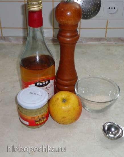 Селедочка в яблочно-горчичном маринаде