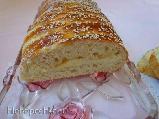 Плетёный  лимонный пирог