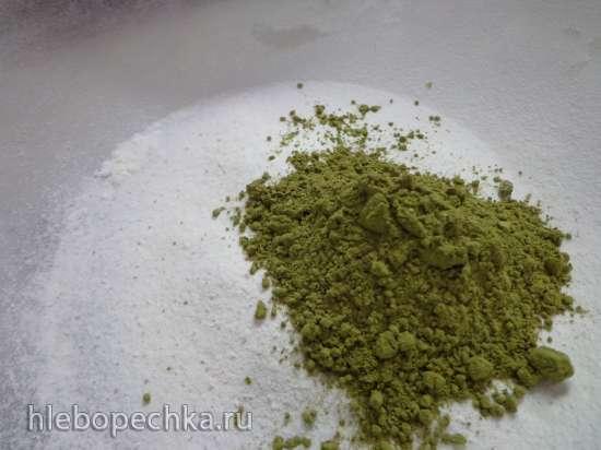 Мраморные булочки-бриоши с  зеленым чаем Матча