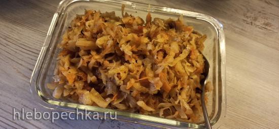 Капуста Ленивая, запеченная в духовке с жареным луком