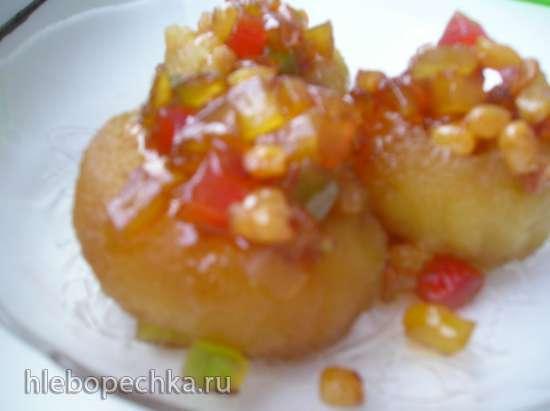 Яблоки в пряном сиропе в рисоварке 1 л.
