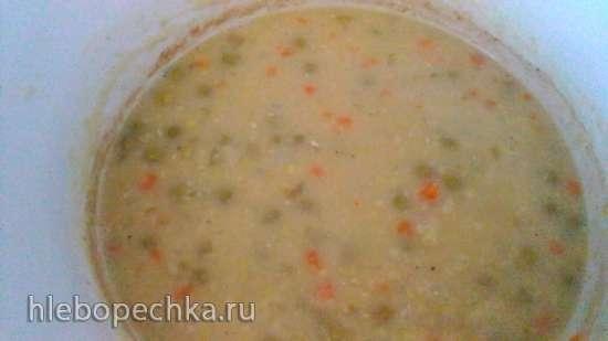 Гороховый суп без соли в медленноварке