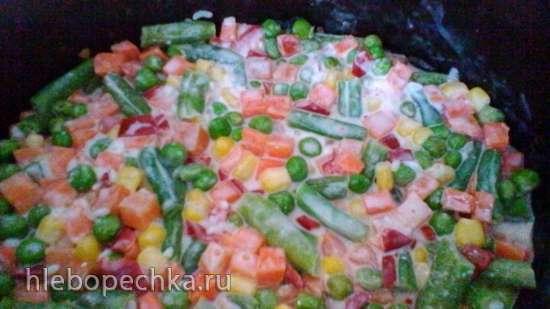 Рагу из замороженных овощей в медленноварке КитФорт 2010