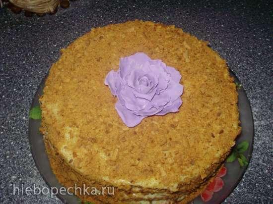 Торт Медовый пух с легким заварным кремом