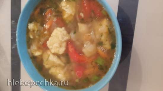 Алишке-шорбасы (Овощной суп с тестом и яйцами)