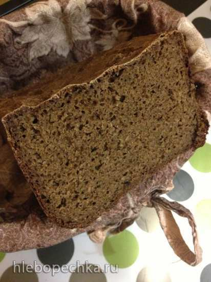 Ржаной хлеб с овсяным толокном в хлебопечке