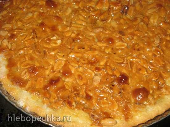 Орехово-карамельный песочный пирог